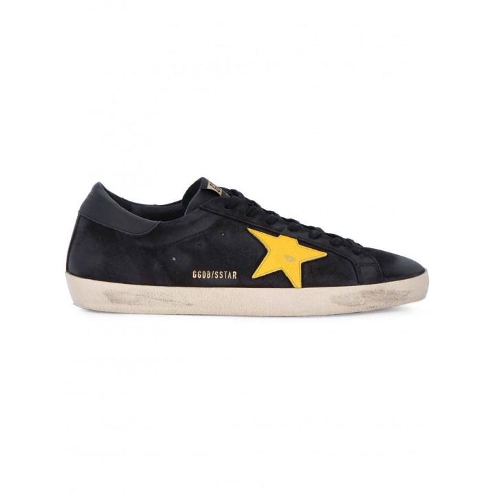 Купить Кеды Golden Goose  'Superstar' черные с желтой звездой