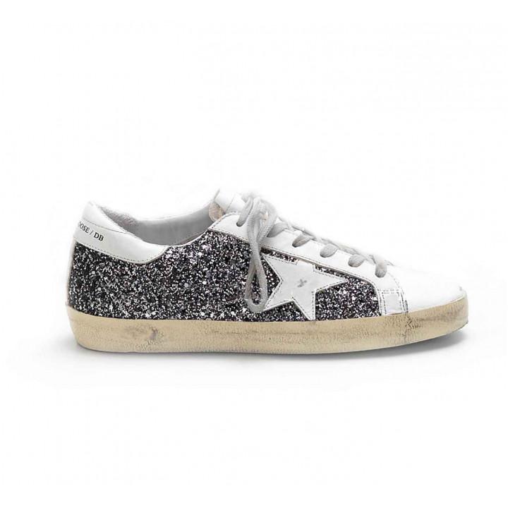 Купить Кеды Golden Goose  'Superstar' glitter and white
