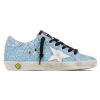 Кеды Golden Goose lollipop glitter blue детские