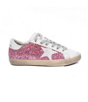 Кеды Golden Goose  'Superstar' pink glitter