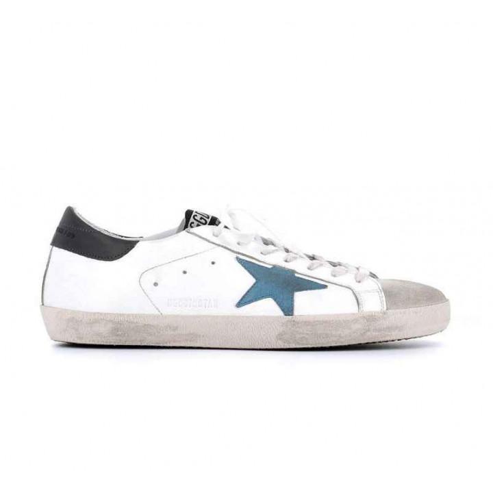 Купить Кеды Golden Goose  'Superstar'  blue star
