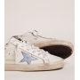 Купить Кеды Golden Goose  'Superstar' with lavender glitter heel tab and light-blue metallic leather star в Кеды и кроссовки Golden Goose Deluxe Brand