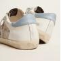 Купить Кеды Golden Goose  'Superstar' LTD sneakers in white leather with mesh insert and silver glitter tongue в Кеды и кроссовки Golden Goose Deluxe Brand