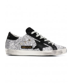 Кеды Golden Goose  'Superstar' black and glitter 2