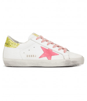 Кеды Golden Goose  'Superstar' gold & pink