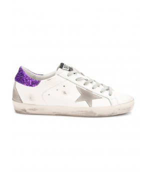 Кеды Golden Goose  'Superstar' purple glitter