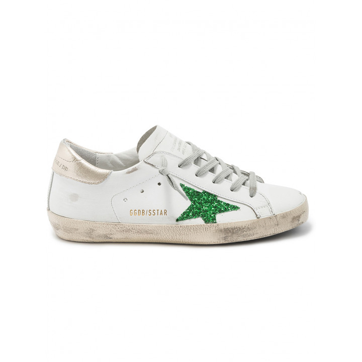 Кеды Golden Goose  'Superstar' green star