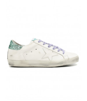 Кеды Golden Goose  'Superstar' purple shoelaces