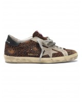 Кеды Golden Goose  'Superstar' leopard flock-print leather