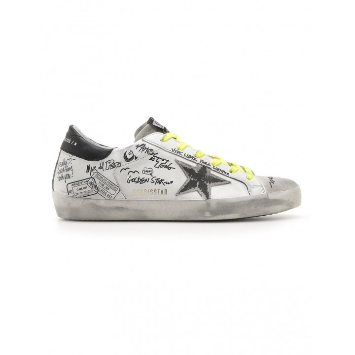 Купить Кеды Golden Goose  'Superstar' with graffiti