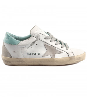Кеды Golden Goose  'Superstar'  turquoise backdrop