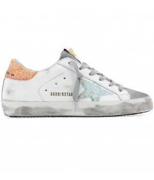 Кеды Golden Goose  'Superstar' orange glitter