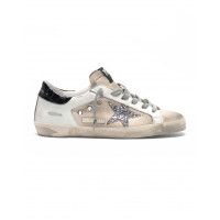 Кеды Golden Goose  'Superstar' canvas leather with glittery star