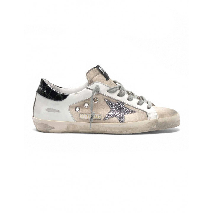 Купить Кеды Golden Goose  'Superstar' canvas leather with glittery star