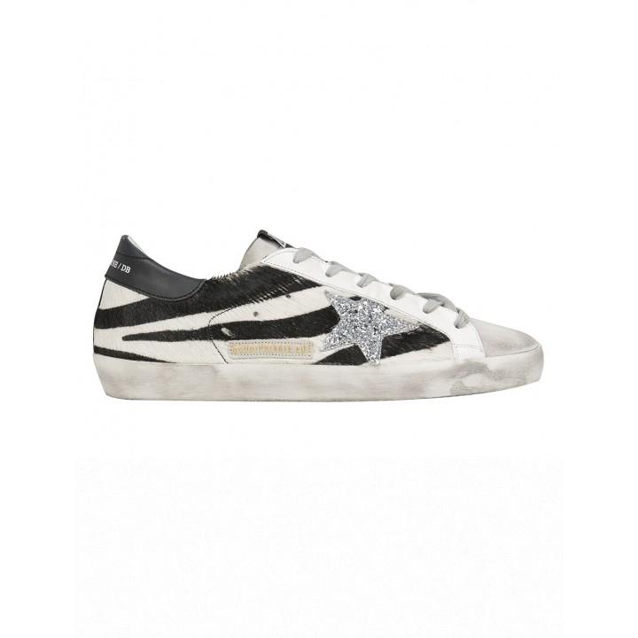 Купить Кеды Golden Goose  'Superstar' Zebra Low-Top Sneakers