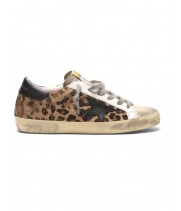 Кеды Golden Goose  'Superstar' leopard print flocked leather