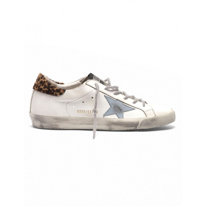 Кеды Golden Goose  'Superstar' with leopard print heel tab