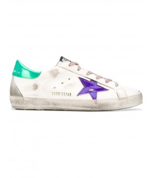 Кеды Golden Goose  'Superstar'  plum star