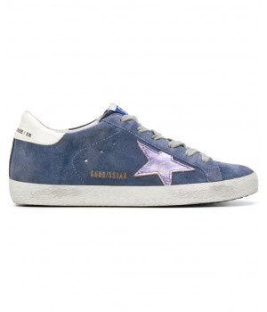 Кеды Golden Goose  'Superstar' замшевые blue