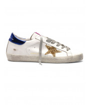 Кеды Golden Goose  'Superstar' gold glitter star