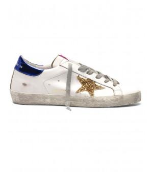 Кеды Golden Goose  'Superstar' gold glitter star