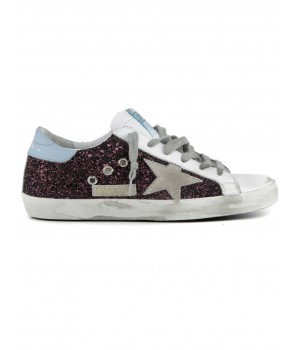 Кеды Golden Goose  'Superstar' WINE GLITTER