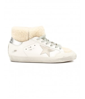 Кеды Golden Goose  'Superstar' с овчиной высокие