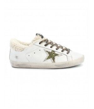 Кеды Golden Goose  'Superstar' с овчиной